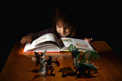 The magic of books: in the land of fantasy Royalty Free Stock Images