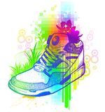 Magic boot. Illustration is stylised under  hand drawing Royalty Free Stock Photos