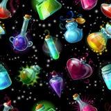 Magic Bottles Pattern Royalty Free Stock Image