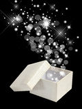 Magic box. Isolated on black Royalty Free Stock Photography