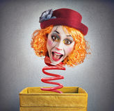 Magic box clown Royalty Free Stock Images