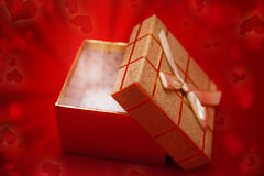 Magic box with gift Royalty Free Stock Images