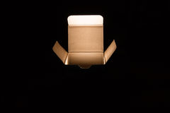 Magic box. Inside light, the box open Stock Photography