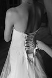 Magic bridal morning. Bride getting ready Royalty Free Stock Images