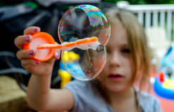 Magic of bubbles Stock Photo