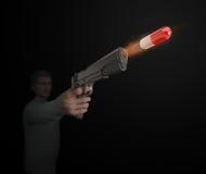 A 'magic bullet' medicine concept Stock Photo