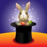 Magic bunny vector illustration