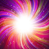Magic burst. With rays of light, abstract background stock illustration