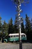 Magic Bus in Alaska stock photography