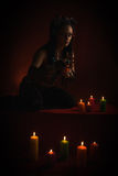 Magic with candles Royalty Free Stock Images