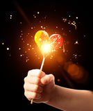Magic candy heart Stock Photos