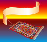 Magic Carpet with Banner Royalty Free Stock Photos