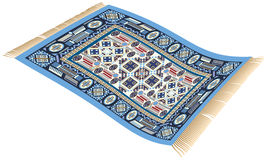 Magic Carpet Blue Stock Photo