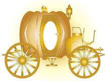Magic Carriage. A magic fairy tale carriage in gold Royalty Free Stock Photography