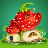 Magic cartoon mushrooms Stock Image