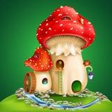 Magic cartoon mushrooms Stock Images