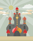 Magic castle. Vector illustration. Magic cute decorative castle Royalty Free Stock Photos