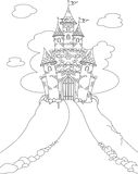 Magic Castle coloring page Royalty Free Stock Photography