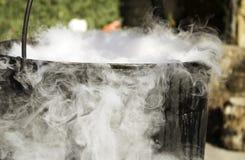 Magic cauldron smoke Royalty Free Stock Photos