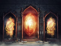 Magic chamber with mirrors Stock Photos