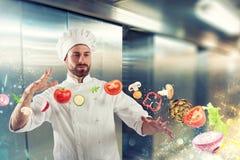 Magic Chef listo para guisar un nuevo plato Fotos de archivo