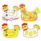 Magic chicken set Stock Image