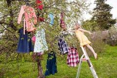 Magic choice of dresses Stock Image
