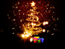Magic Chrismas tree of stars Royalty Free Stock Photography