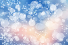 Magic Christmas background. Bokeh or glitter lights on dark back.  Stock Photography