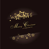 Magic christmas background. With golden snow flakes Royalty Free Stock Photo