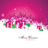 Magic christmas background. Magical christmas background in pink Royalty Free Stock Image