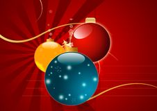 Magic Christmas Background in Red Colors Stock Photo