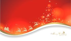 Magic christmas background. With santa claus and stars Royalty Free Stock Photo