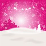 Magic christmas background. And snow Stock Photos