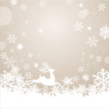 Magic christmas background. With snow flakes and reindeer Royalty Free Stock Photo