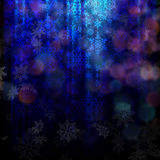 Magic Christmas background with snowflakes. EPS 10 Stock Photos