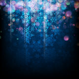 Magic Christmas background with snowflakes. EPS 10. Magic bokeh Christmas background with snowflakes. EPS 10 vector file included Royalty Free Stock Photos