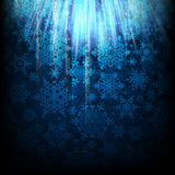 Magic Christmas background with snowflakes. EPS 10. Vector file included Stock Image