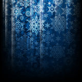 Magic Christmas background with snowflakes. EPS 10. Vector file included Royalty Free Stock Photo