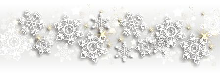 Magic christmas background. With stars and snowflakes Stock Image