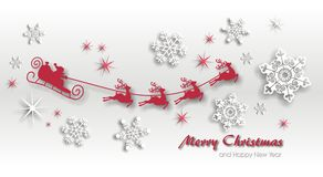Magic christmas background. With stars and snowflakes and santa claus Stock Images