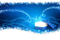 Magic Christmas Box Stock Images
