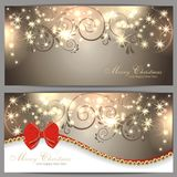 2 magic christmas cards. 2 magic and beautiful christmas background Royalty Free Stock Images