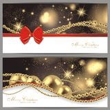 2 magic christmas cards. 2 magic and beautiful christmas background Royalty Free Stock Photo