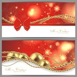 2 magic christmas cards. 2 magic and beautiful christmas background Royalty Free Stock Image