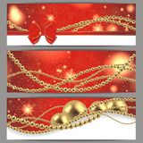 3 magic christmas cards Royalty Free Stock Photos