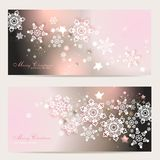 2 magic christmas cards. 2 magic and beautiful christmas background Stock Image