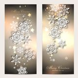 2 magic christmas cards. 2 magic and beautiful christmas background Stock Photography