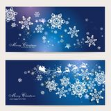 2 magic christmas cards. 2 magic and beautiful christmas background Royalty Free Stock Photos