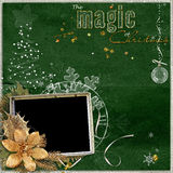 Magic Christmas frame Stock Images
